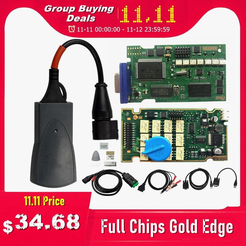 Full Chips Gold Edge Lexia3 PP2000 PSA XS Evolution Diagbox V7 83 Lexia For Citroen Peugeot Super Firmware 921815C Lexia 3