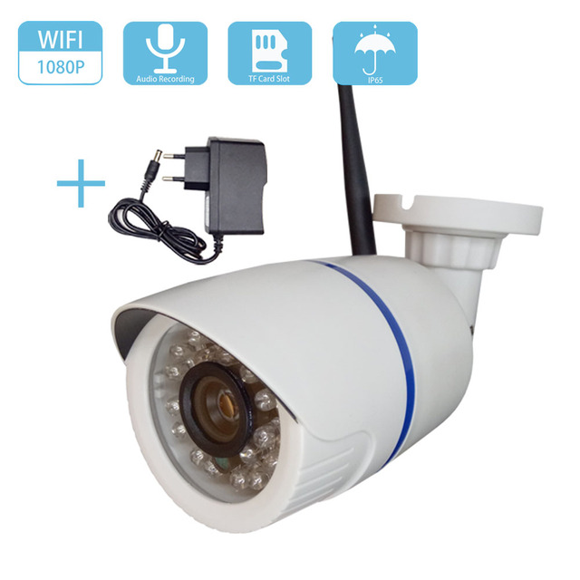 HD 2MP 1080P ses kablosuz IP kamera WiFi kablolu 720P güvenlik kamerası gözetim güvenlik mermi IR gece görüş su geçirmez kamera