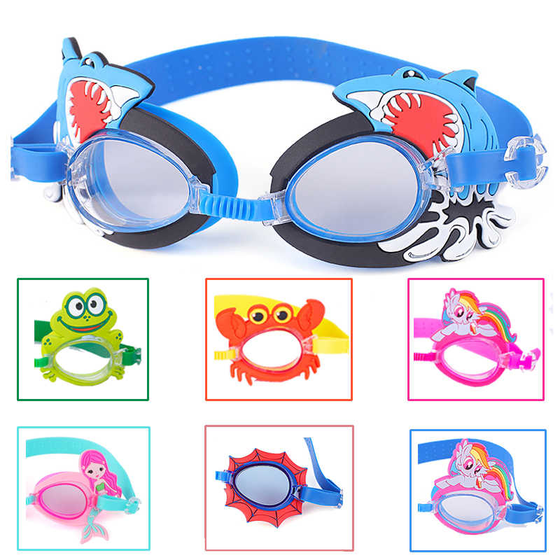 Children Swimming Glasses Anti Fog HD Cartoon Swimming Goggles Girls Boys Diving Surfing Goggles Waterproof Protection Eye Wear