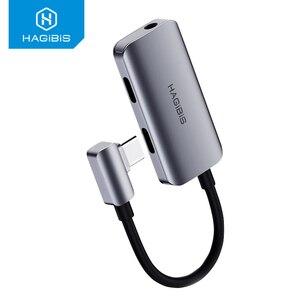 Image 2 - Hagibis Typ C conventer USB C zu 3,5mm Kopfhörer jack Adapter PD schnelle ladung typ c audio für Huawei P30 pro Xiaomi Oneplus