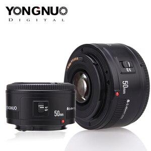 Image 2 - YONGNUO عدسة YN50mm f1.8 YN EF 50 مللي متر f/1.8 AF عدسة YN50 فتحة السيارات التركيز عدسات لكاميرات كانون EOS 60D 70D 5D2 5D3 600d كاميرات DSLR