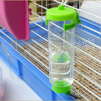 80ml Plastic Feeder Hamster Water Bottle Hanging Cage Style Rabbit Drinking Tools for Small Animals Automatic Drinker 4