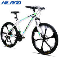 HILAND 26'' Mountain Bike 21/27 Speed Aluminum Bicycle Bike Double Disc Brake MTB Suspension Fork Bicycle with Shimano TZ50 1