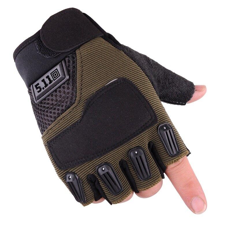 Осенне-зимние мужские камуфляжные спортивные велосипедные Нескользящие Тактические перчатки с открытыми пальцами