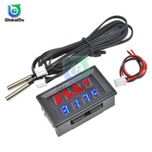 DC4V-28V 0.28 pouces Mini LED double affichage thermomètre numérique étanche NTC métal sonde température capteur contrôleur 2Pin câble