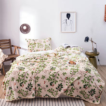 3Pcs blankets sets twin full queen leaves blankets soft Flannel Throw blanket on Bed/car/sofa luxury simple blankets bedding(China)