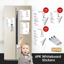 Magnetic Whiteboard Stickers Dry Erase Whiteboard notes for Kid Calendar Table Schedules Fridge Draw Sticker 4*4 /5*5/4*6 inch
