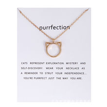 Fashion Gold-color Animal Cat Ear Chocker Necklace Pendant Charm For Women Wedding Bride Jewelry Friend Gift(China)