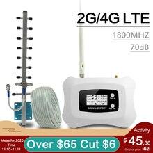 ATNJ 4 جرام LTE Moblie مكرر إشارة الهاتف 70dB كسب 4 جرام DCS 1800 ميجا هرتز الخلوية مكبر صوت أحادي 2 جرام 4 جرام LTE الداعم الفرقة 3 شاشة الكريستال السائل