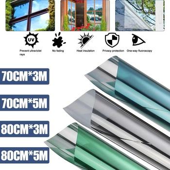 70 80 #215 30 0 500Cm lustro półprzepuszczalne folia okienna samoprzylepna folia odblaskowa Solar Anti UV naklejki na okna do domu i biura tanie i dobre opinie CN (pochodzenie) Samoprzylepne Statyczne czepiać Szkło filmy