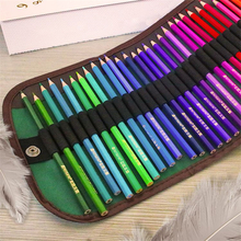 48 Holes Oxford Fabric Roll Up Pouch Canvas Pen Bag Case Colored Pencils for Sketch Drawing Student Stationery Storage Bag 32pcs professional drawing artist kit pencils sketch charcoal art craft with carrying bag tools