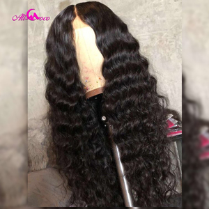 Image 5 - Brazilian 360 Deep Wave Lace Front Human Hair Wigs Front Lace Wigs With Baby Hair Pre Plucked Natural Hairline Remy Ali coco