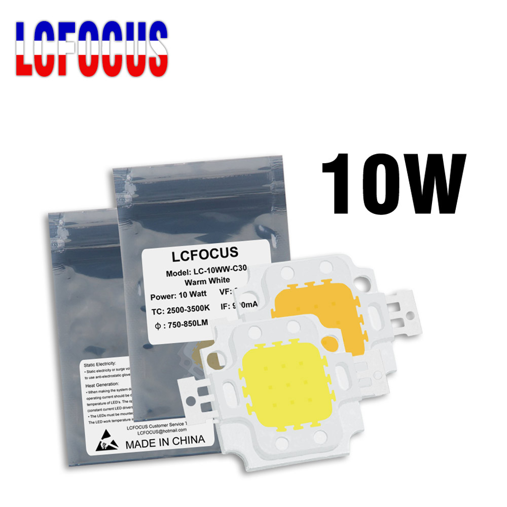 High Power LED Chip 10W Natural Cool Warm White 3000K 4000K 6000K 10000K 20000K 30000K COB SMD Light Beads For 10 W Floodlight