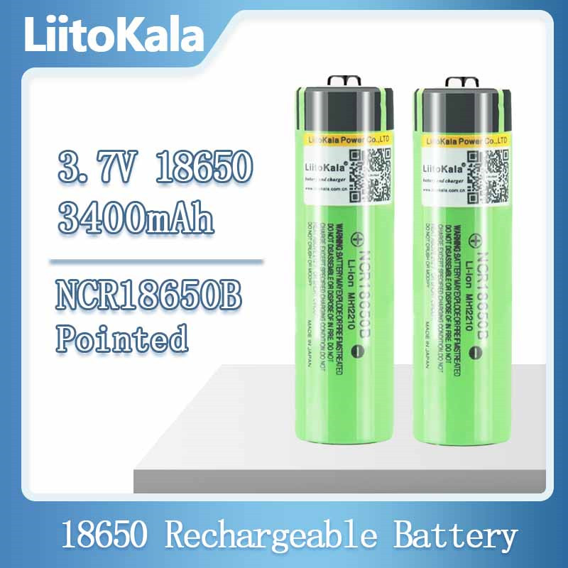 Литиевые аккумуляторы liitokala NCR18650B 100% в 3,7 мАч 3400, 18650 оригинальные, без ПП 1