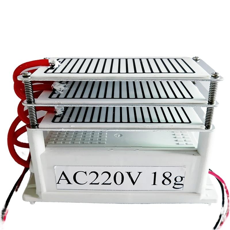 Ozone Generator Air Purifier Parts 220v Air Purifier 18g 18000mg 3 Layer Ozone Plate  Odor Eliminator Ozonator Ozonizer