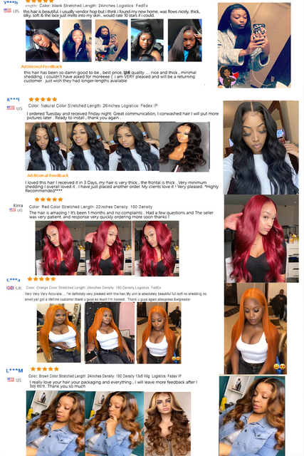 Wigleader ludzki włos koronki przodu peruki 180% Preplucked koronki przodu peruka 1b/pomarańczowy Ombre Glueless włosów peruki faliste włosy koronkowe peruki