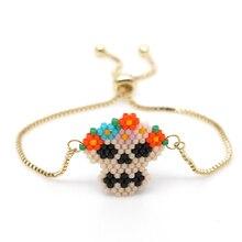 Go2boho Mexican Women Skull Bracelet Skull Punk Pulseras Mujer Moda 2019 femme Colorful Miyuki Beads Bracelets Jewelry Handmade