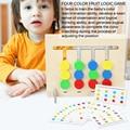 Игрушка Монтессори, цвета и фрукты, двусторонняя подходящая игра, обучение логике, обучающие игрушки для детей, деревянная игрушка для дете...
