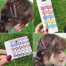 New6.5cm Mix Solid Color Metal Hairgrip Girls Snap Hair Clips For Children Baby Girls Hair Accessories Women Barrettes Clip Pins classic solid color leaf hairgrip for women