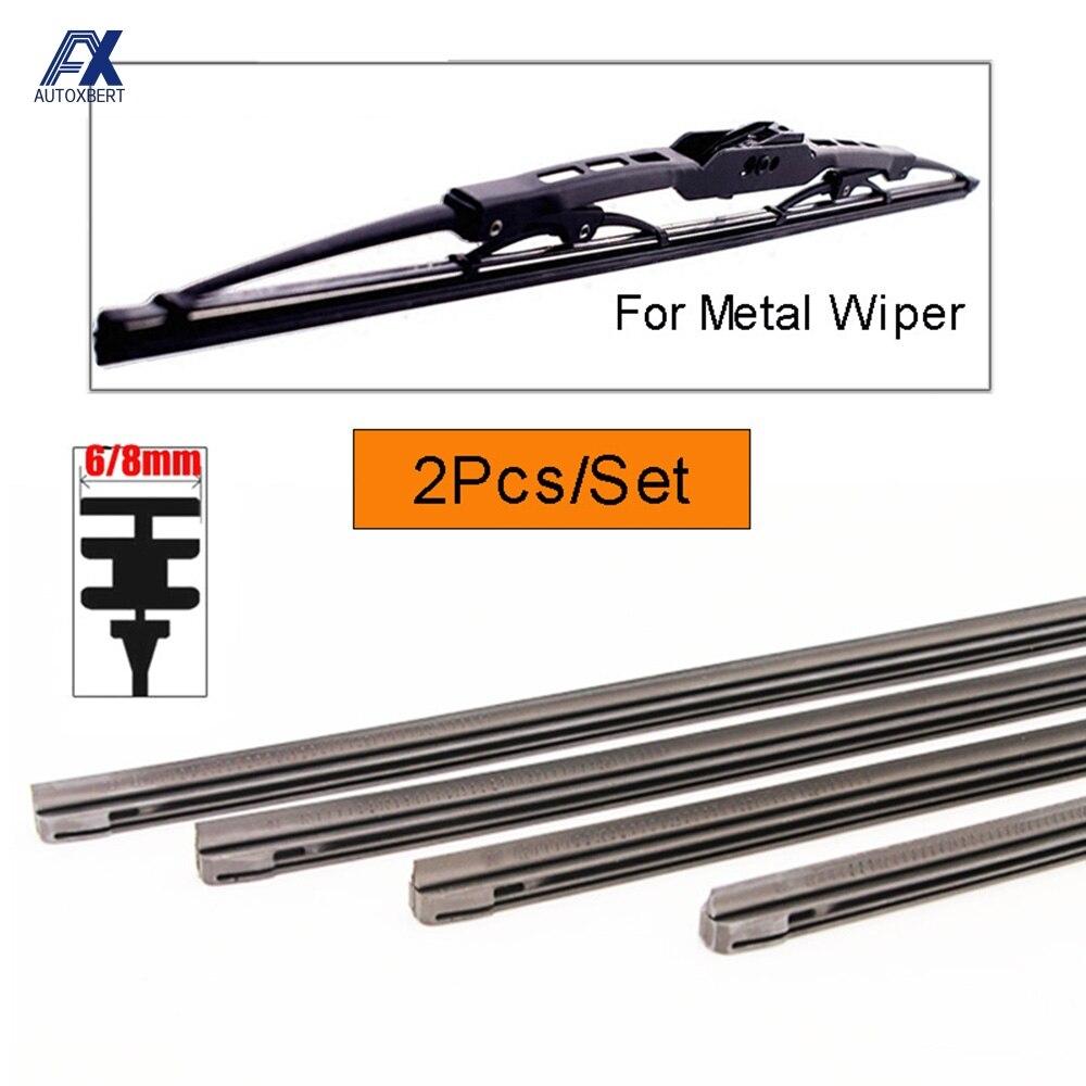 Auto Insert Rubber Strip Windshield Wiper Blade Refill Universal Replacement Refills Soft 6mm / 8mm 14