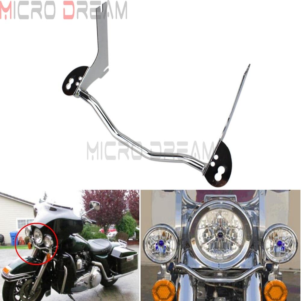 Motorcycle Spotlight Passing Lamp Mounting Bracket Bar Chrome Turn Signal Light Holder For Harley Touring Road King 1996-2013