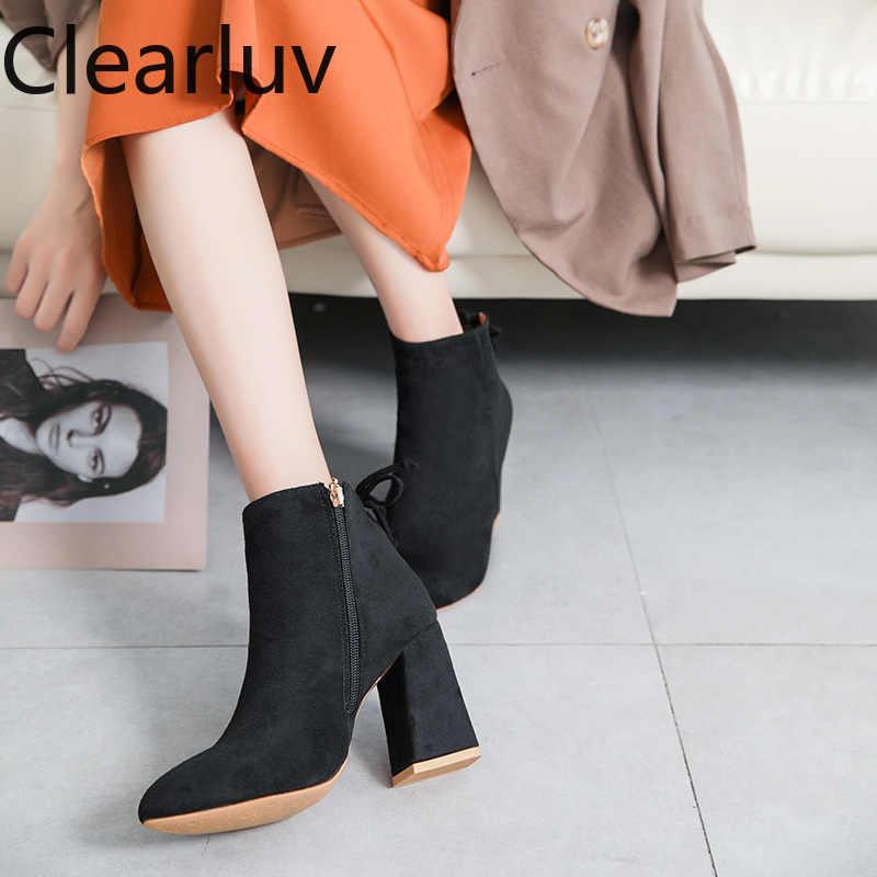 2019 kadın kış ayakkabı yüksek topuk çizmeler seksi ayak bileği çizmeler kadın ayakkabıları ayak bileği çizmeler kadın ayakkabıları kar botları kadın sonbahar kadın ayakkabı