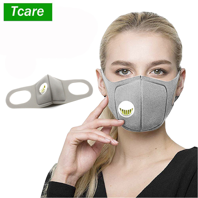 2Pcs/Lot Fashion Sponge Dust Masks   Respirator Mask with Breath Valve Dust Face Mouth Mask Breathable for Men Women|Masks|   - AliExpress