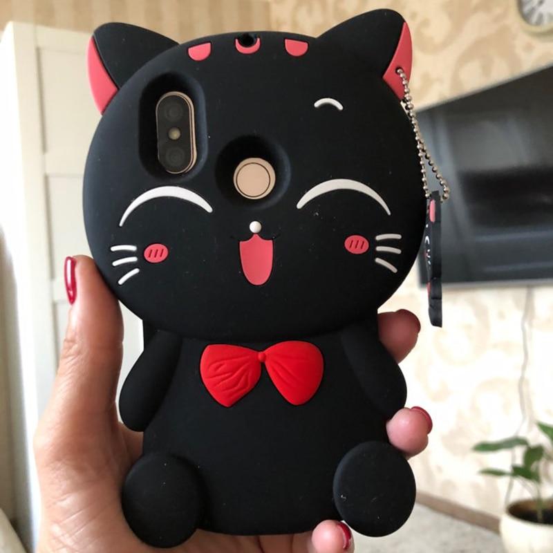 For Xiaomi Mi A2 Case Xiaomi Mi 6X Soft Rubber Soft Silicone Back Stitch Cat Unicorn Phone Cover For Xiaomi Mi 6X Mi6X Bag Cases in Fitted Cases from Cellphones Telecommunications