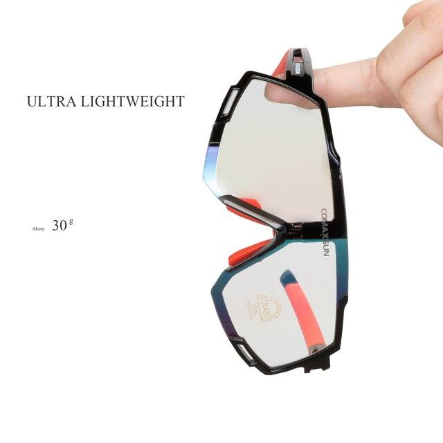 Comaxsun profissional polarizado 5 len ciclismo óculos mtb bicicleta de estrada do esporte espelho óculos de sol da bicicleta uv400 5