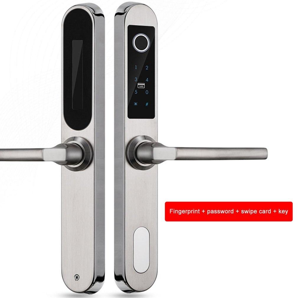 Fechadura Biométrica de impressão Digital Keyless Fechadura Da Porta de Impressão Digital + Senha + Cartão RFID Inteligente + Chave de Desbloqueio 4 Maneiras