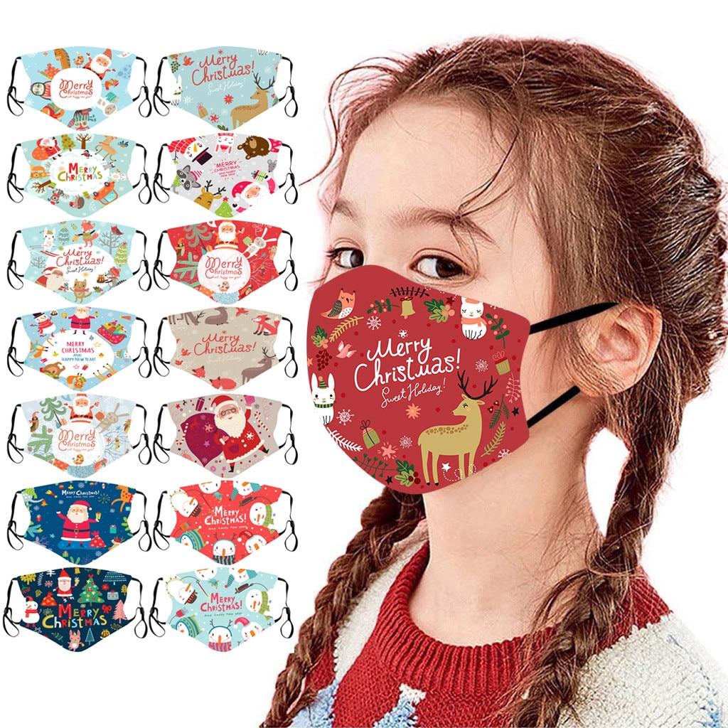 1 шт. рождественские детские уличные хлопковые маски для рта с принтом Моющиеся Многоразовые маски для лица mascarillas navidad F #|Маска для велоспорта| | АлиЭкспресс