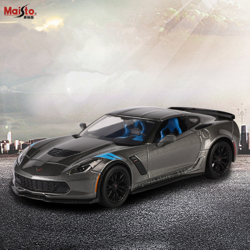 Maisto 1:24 2017 Corvet Alloy Racing Convertible Alloy Car Model Simulation Car Decoration Collection Gift Toy