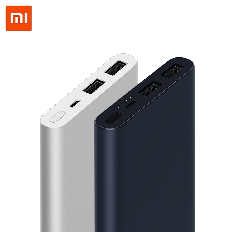 New <font><b>Xiaomi</b></font> <font><b>Mi</b></font> <font><b>Power</b></font> <font><b>Bank</b></font> <font><b>2s</b></font> <font><b>10000</b></font> <font><b>mAh</b></font> Redmi <font><b>Power</b></font> <font><b>Bank</b></font> Dual USB Port Quick Charge Powerbank Ultra-thin External Battery charging image