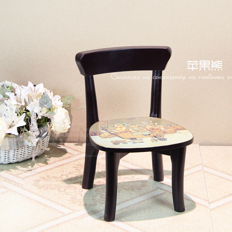 European Small Chair Adult Household Solid Wood Living Room Children Back Chair Child Lovely Student Study Chair Writing Chai