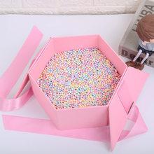 1 paquete de bolas de poliestireno de 4-6mm bolas de espuma artesanía de bolas de regalo caja DIY pequeña perlas de espuma de Ballon relleno de espuma decoración de la fiesta