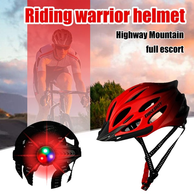 Unisex ciclismo capacete com luz bicicleta ultraleve capacete intergrally-moldado mountain road bicicleta mtb capacete seguro das mulheres dos homens 6