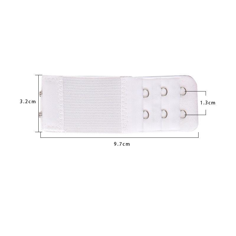1 шт., удлинитель для бюстгальтера, удлинение пряжки, 3 ряда, 2 крючка, застежка, ремни, женский ремень для бюстгальтера, удлинитель, инструмент для шитья, аксессуары для интима - Цвет: Белый