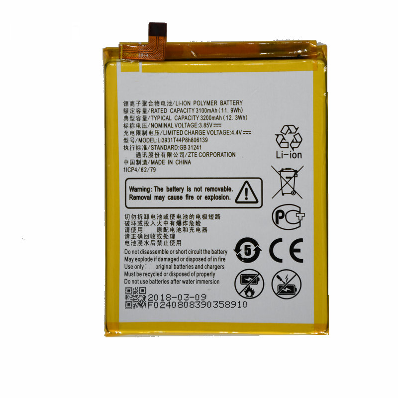 Original Quality <font><b>Battery</b></font> for ZTE Blade V10 / V10 Vita /<font><b>a5</b></font> 2020 3200mAh image