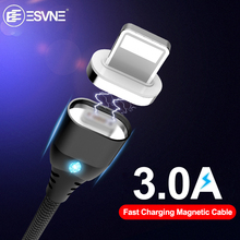 ESVNE Magnetic Usb Charging Cable For iphone Samsung Charger Xiaomi Type C Micro Fast