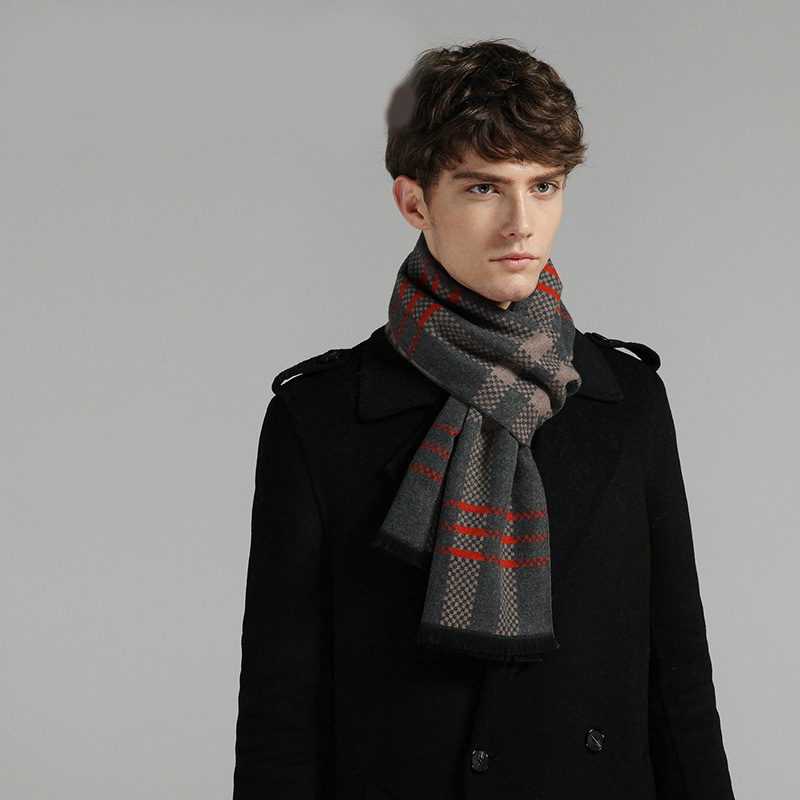 YILIAN Brand Classic Cotton Business Men Scarf Top Quality Soft To Touch New Design Long Winter Scarf