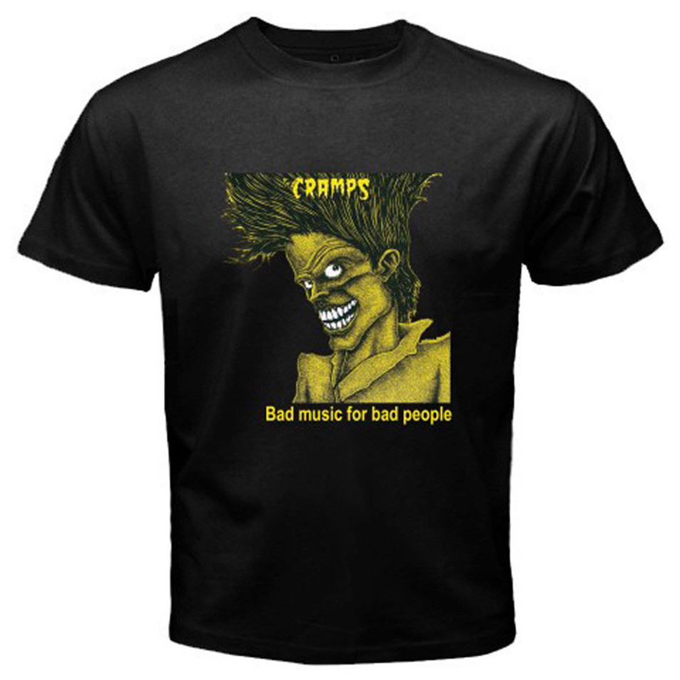 PSYCHOBILLY GARAGE S-5XL MENS WHITE T-SHIRT CRAMPS CAN YOUR PUSSY DO THE DOG