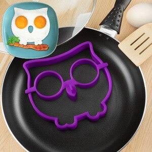 1 ud. De bonitas tortillas de silicona con forma de búho, herramientas de cocina para hornear, utensilios de cocina creativos DIY