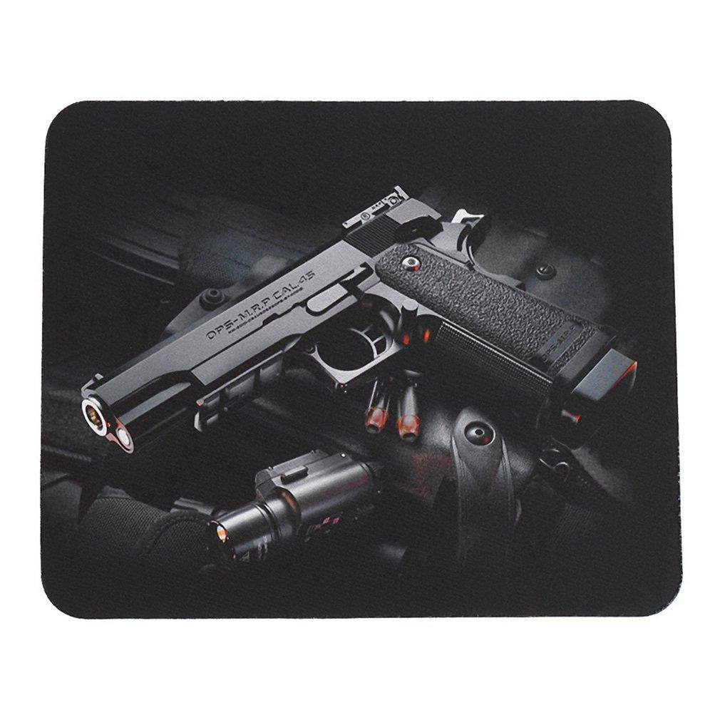 24x20cm Gun Pattern Anti-Slip Laptop PC Mice Pad Mat Mousepad For Optical Laser Mouse Comfortable Gaming Mouse Pad Drop Ship
