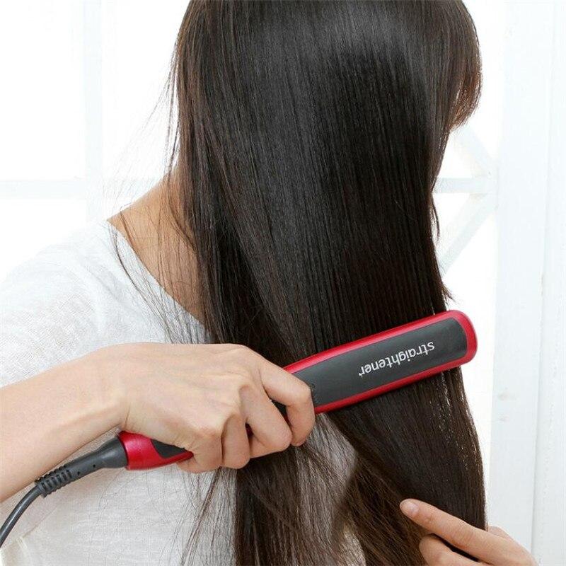 Simply Hair Straighter Brush Straightener Iron Wand Electric Hair Straightening Comb Fast Heating Straight Hairstyling Salon