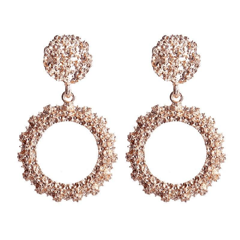Mostyle 30 стилей модные большие винтажные золотые серебряные розовые золотые геометрические массивные металлические Висячие серьги для женщин - Окраска металла: 62951
