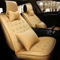 Warm Car Seat Cover Winter Cushion Auto Seats Covers for skoda octavia 1 2 3 a5 a7 octavia tour rapid spaceback superb 1 2 3