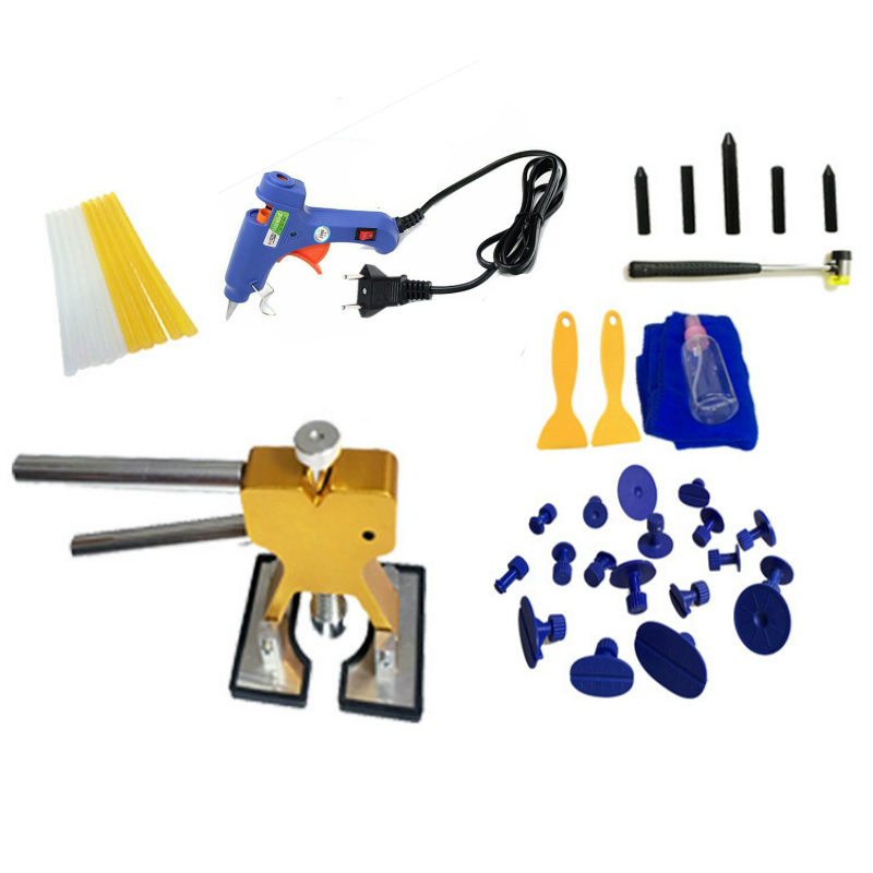 40 pcs/set Car DIY Tools Set Car Repair Paintless Dent Removal lifter Puller Kits (EU Plug)