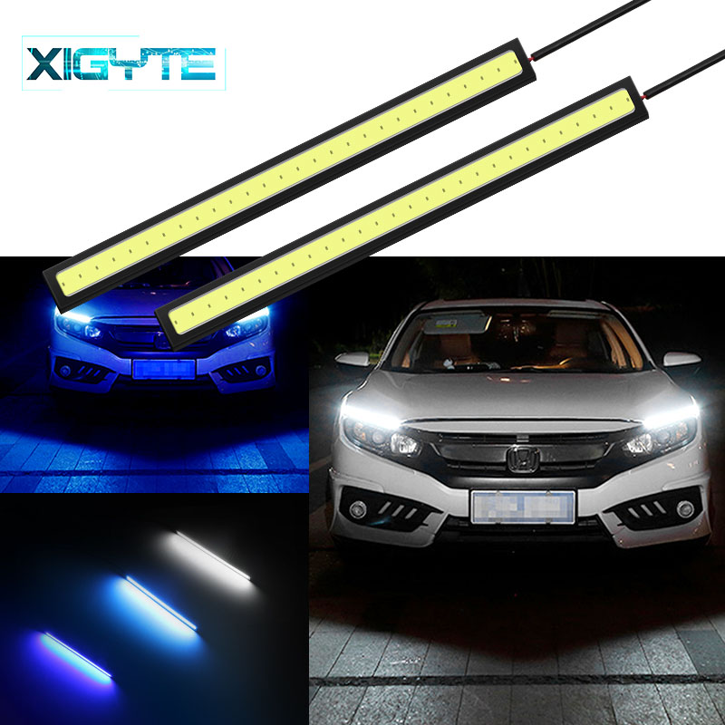 2pcs 17cm Daytime Running Light DC 12V COB LED DRL Driving Daytime Running Lights With Car Waterproof External LED Fog Lights