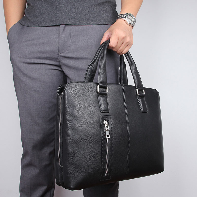 Man Briefcase Hand Bags Real Leather Men Travel Casual Tote Shoulder Crossbody Bag Male Handbags 14