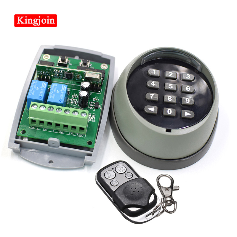 Wireless Keypad Password Switch 433mhz Remote Control And 433 Receiver For Garage Gate Door Access Control 433MHz High Quality